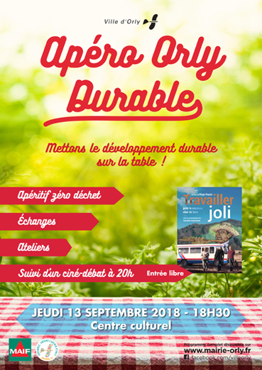 Apéro Orly Durable - affiche